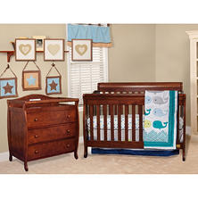 AFG Alice 4-in-1 Crib and Grace 3-Drawer Changer, Espresso