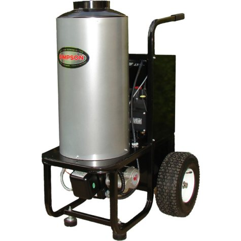 SIMPSON Mini Brute 1500 PSI at 1.8 GPM with Industrial Triplex Pump Belt Drive Hot Water Industrial Electric Pressure Washer