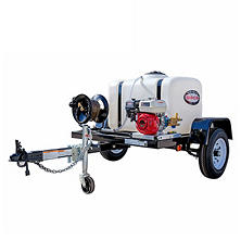 SIMPSON Trailer 3200 PSI 2.8 GPM- Cold Water Pressure Washer System Powered by HONDA