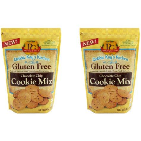 Debbie Kay's Kitchen Gluten-Free Chocolate Chip Cookie Mix (18 oz. ea., 2 pk.)