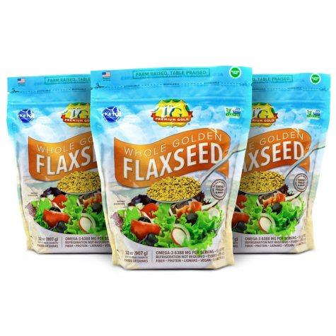 Premium Gold Whole Flaxseed (96 oz.)