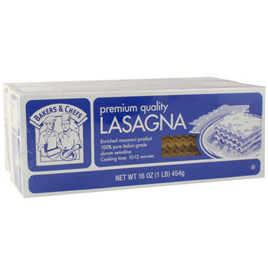 Bakers & Chefs Lasagna - 2 / 16 oz.