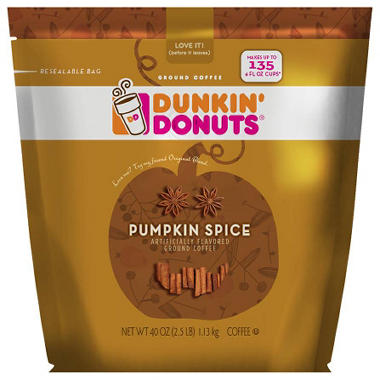 Dunkin' Donuts Ground Coffee, Pumpkin Spice (40 oz.)