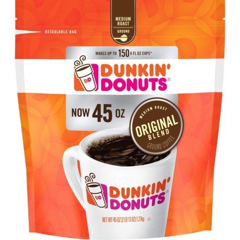 Dunkin' Donuts Original Blend Ground Coffee, Medium Roast (45 oz.)