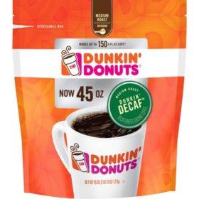 Dunkin' Donuts Ground Coffee, Decaffeinated (45 oz.)