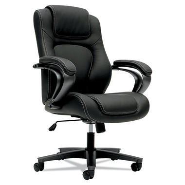basyx VL402 Series Mid-Back Managerial Chair, Black