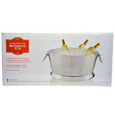 Dewans and Sons Double-Walled Polished Beverage Tub