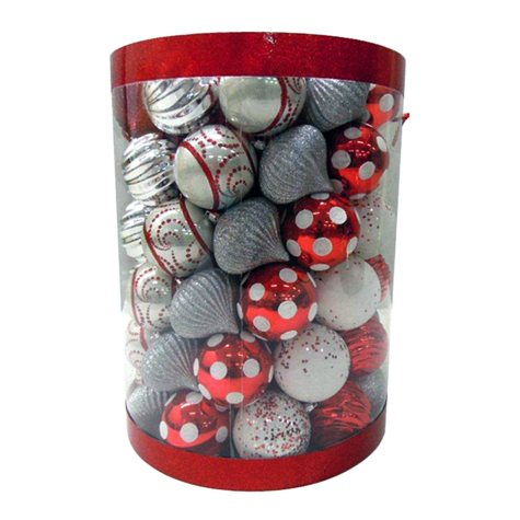 100 ct. Shatterproof Ornaments - Various Colors