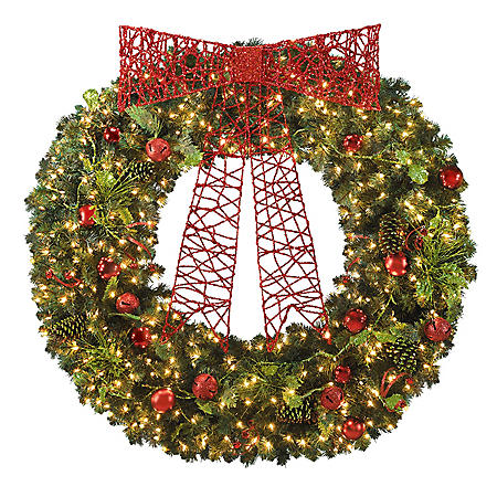 "60"" WREATH RED/LIME"