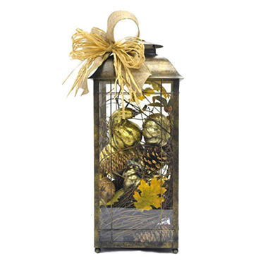 Harvest Tabletop Lantern - Original Price $29.98 Save $10.17