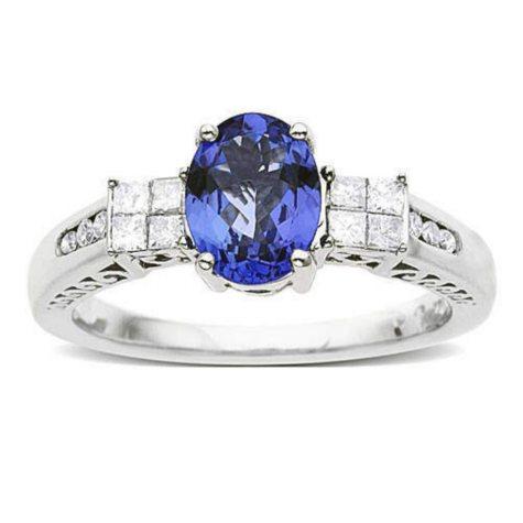 1 ct. Tanzanite & Diamond Ring (H-I, I1)