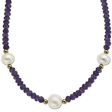 FWC PEARL AMETH NECK 3STATION PEARLS-14KY