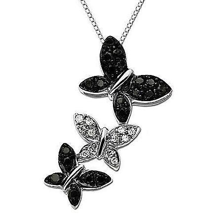.20 ct. t.w. Black & White Diamond Pendant