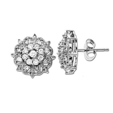 .47 ct. t.w. Diamond Cluster Stud Earrings (H-I, I1)