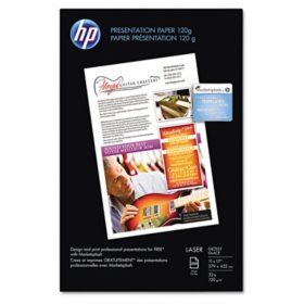 HP Color Laser Presentation Paper, 32lb, 95 Bright, 11 x 17, White, 250 Sheets