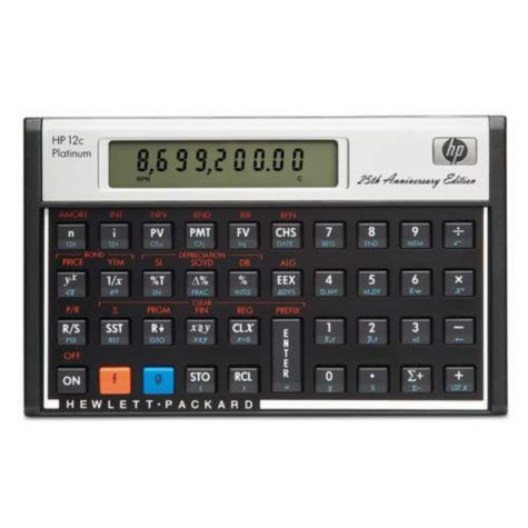 HP's 12c Platinum Calculator