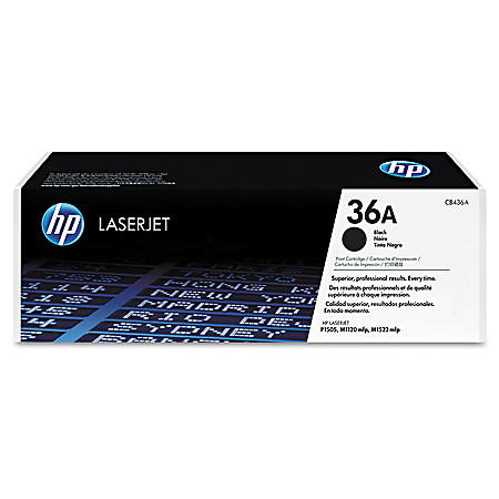 HP 36A Original Laser Jet Toner Cartridge, Black, Select Type (2,000 Page Yield)