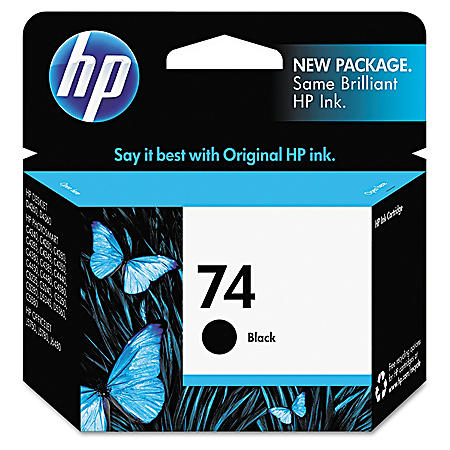 HP 74, Black Original Ink Cartridge