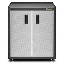 Gladiator 28-inch Ready to Assemble Steel Freestanding Garage Cabinet in Silver Tread Plate