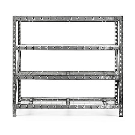 Gladiator 77-inch 4-Shelf Welded Steel Garage Shelving Unit