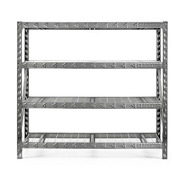 Gladiator 77 Inch 4 Shelf Welded Steel Garage Shelving
