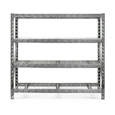Gladiator 77-inch 4-Shelf Welded Steel Garage Shelving Unit