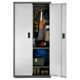 Gladiator 36-inch Ready to Assemble Steel All Seasons Freestanding Garage Cabinet in Silver Tread