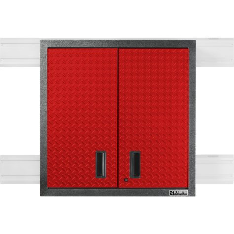 Gladiator 30-inch Premier Series Pre-Assembled Steel 2-Door Garage Wall Cabinet in Racing Red Tread