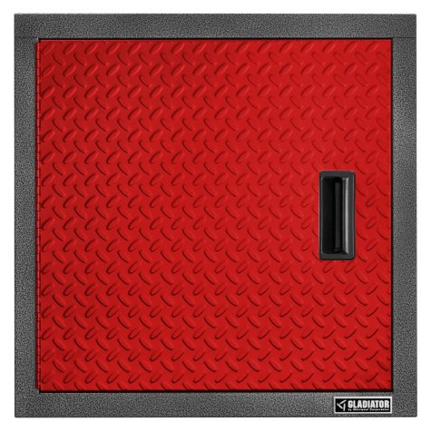 Gladiator 24-inch Premier Series Pre-Assembled Steel Garage Wall Cabinet in Racing Red Tread