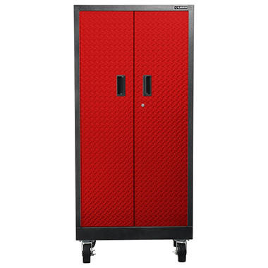 Gladiator 30-inch Premier Series Pre-Assembled Steel Rolling Garage Cabinet in Racing Red Tread