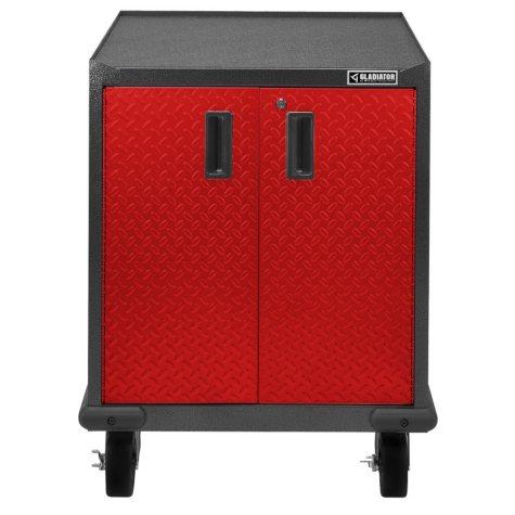 Gladiator 28-inch Premier Series Pre-Assembled Steel 2-Door Rolling Garage Cabinet in Racing Red Tread