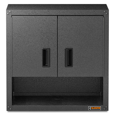 gladiator 28inch ready to assemble steel garage wall cabinet with shelf in hammered granite - Gladiator Shelving