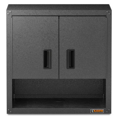 Gladiator 28 Inch Ready To Assemble Steel Garage Wall Cabinet With Shelf In  Hammered Granite