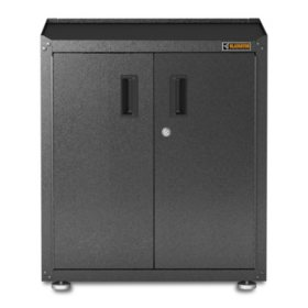 Gladiator 28 Inch Ready To Emble Steel Freestanding Garage Cabinet In Hammered Granite