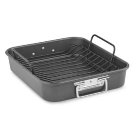 "KitchenAid 16"" Aluminized Steel Nonstick Roaster with Rack ..."
