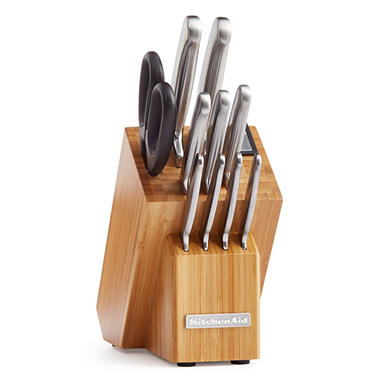 KitchenAid Classic Forged 12-Piece Brushed Stainless-Steel Cutlery Set
