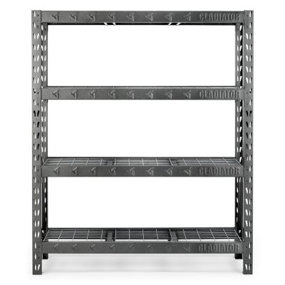 Gladiator 60 Inch 4 Shelf Welded Steel Garage Shelving Unit