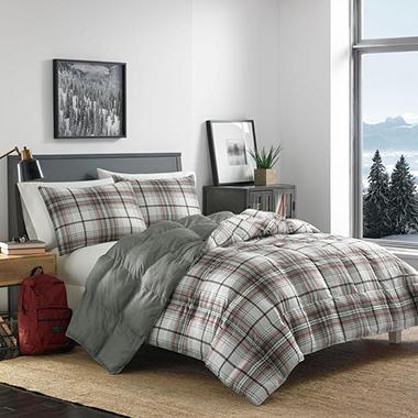 img set size ip assorted plaid a eddie down comforter sams bauer sizes alta alternative