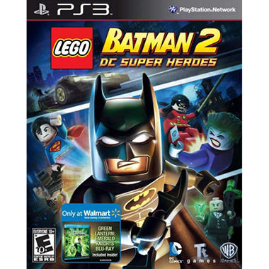 LEGO Batman 2: DC Super Heroes w/ Walmart Exclusive Green Lantern Emerald Knights DVD - PS3