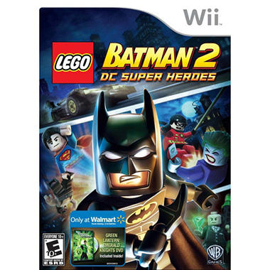 LEGO Batman 2: DC Super Heroes w/ Exclusive Green Lantern Emerald Knights DVD - Wii