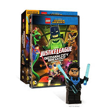LEGO DC Comics Super Heroes: Justice League: Gotham City Breakout w/Figurine (DVD)
