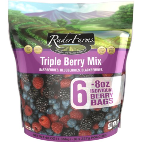Rader Farms Triple Berry Snack Pack (8 oz., 6 ct.)