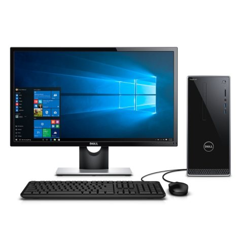 "Dell Inspiron 3650 Desktop Bundle with 24"" Monitor,Intel Core i5-6400 Processor, 12GB Memory, 1TB Hard Drive, AX210 Speakers, Windows 10"