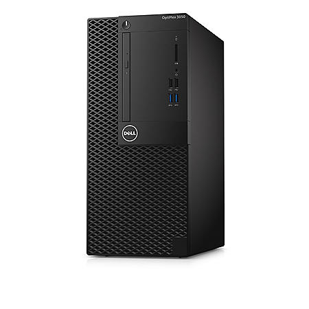 Dell OptiPlex 3050MT Desktop Tower, Intel Core i5-7500 Processor, 8GB Memory, 500GB Hard Drive, Intel Integrated Graphics, Keyboard and Mouse, Windows 10 Pro 64bit, Includes 3 Year Pro Business Support