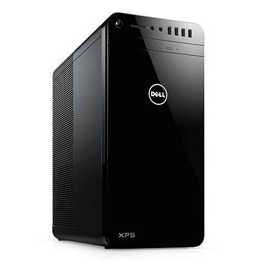 Dell XPS Desktop Tower, Intel Core i7-7700 Processor, 16GB Memory, 2TB HDD + 16GB Intel Optane, NVIDIA GeForce GTX 1050Ti, wired keyboard and mouse, McAfee LiveSafe 12 Month