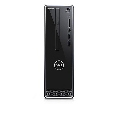 Dell Inspiron 3470 Desktop Tower, Intel Core i3-8100 Processor, 4GB Memory, 1TB HDD, Intel UHD 630 Graphics, KB216 Wired Keyboard, MS116 Wired Mouse, Windows 10 Home