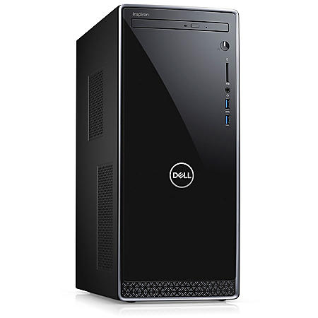 Dell Inspiron Desktop, Intel Core i5-8400 processor, 12GB memory, 1TB hard drive, DVD drive, wired keyboard and mouse, HDMI