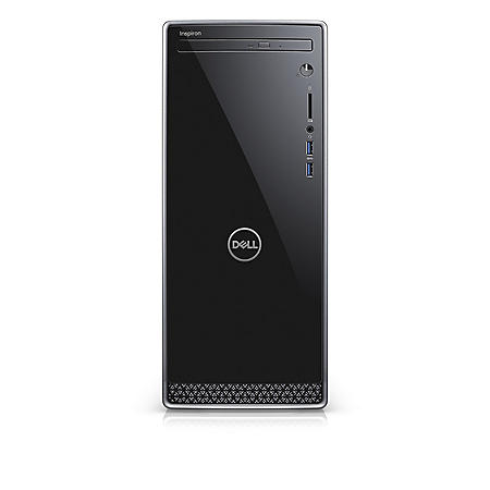 Dell Inspiron 3670 Desktop Tower, Intel Core i5-8400 Processor, Intel UHD Graphics, 12GB Memory, 1TB Hard Drive, DVD Drive, Wired Keyboard and Mouse, Windows 10 Home