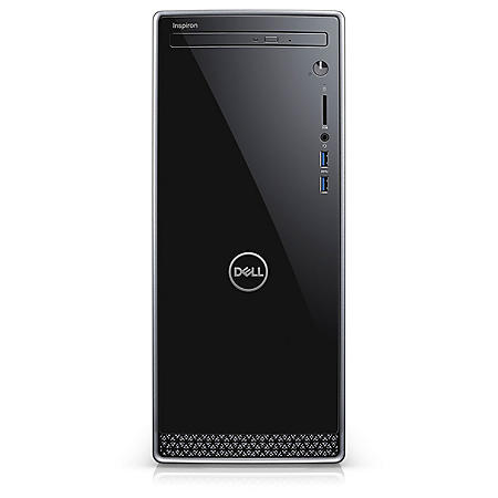 Dell Inspiron Desktop, Intel Core i3-8100 Processor, 8GB Memory, 1TB Hard Drive, wired keyboard and mouse, 12 Month McAfee Subscription, HDMI