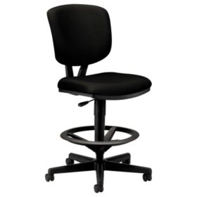 HON - Volt Series Adjustable Task Stool - Black Fabric